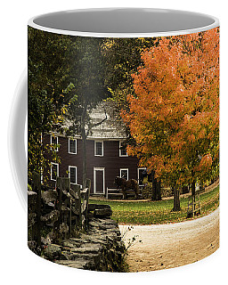Coffee Mug featuring the photograph Bright Orange Autumn by Jeff Folger
