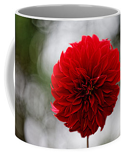 Bright Red Dahlia Coffee Mug
