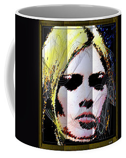 Coffee Mug featuring the digital art Brigitte Bardot by Daniel Janda