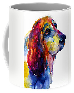 Brilliant Basset Hound Watercolor Painting Coffee Mug by Svetlana Novikova