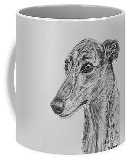 Brindle Greyhound Face In Profile Coffee Mug