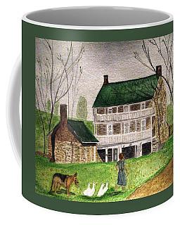 Bringing Home The Ducks Coffee Mug by Angela Davies