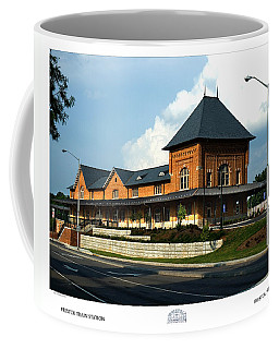 Coffee Mug featuring the photograph Bristol Train Station Bristol Virginia by Denise Beverly