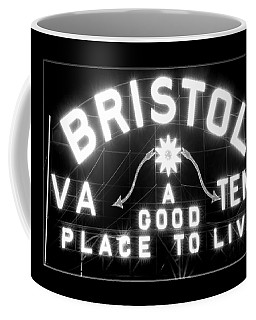 Bristol Virginia Tennesse Slogan Sign Coffee Mug