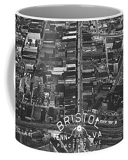 Bristol Virginia Tennessee Early Aerial Photo Coffee Mug
