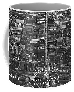 Bristol Virginia Tennessee Early Aerial Photo Coffee Mug