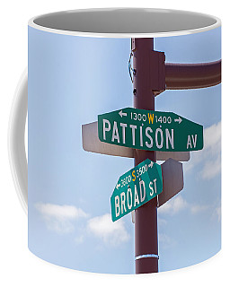 Broad And Pattison Where Philly Sports Happen Coffee Mug