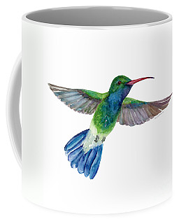 Broadbilled Fan Tail Hummingbird Coffee Mug