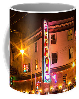 Coffee Mug featuring the photograph Broadway At Night by Suzanne Luft