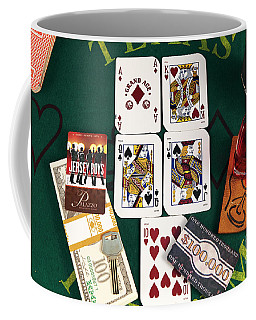 Broadway Poker Hand Coffee Mug by John Rizzuto