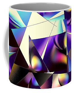 Coffee Mug featuring the digital art Broken Glass by Greg Moores