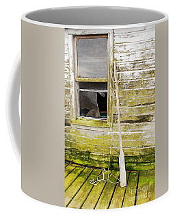 Coffee Mug featuring the photograph Broken Window by Mary Carol Story