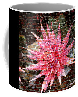 Coffee Mug featuring the photograph Bromeliad On The Wall by Leanne Seymour