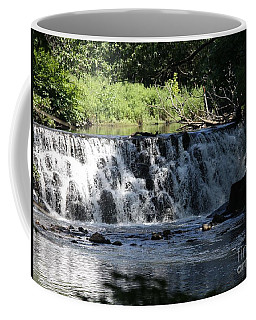 Bronx River Waterfall Coffee Mug by John Telfer