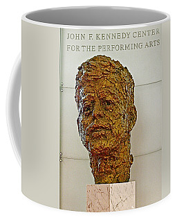 Bronze Sculpture Of President Kennedy In The Kennedy Center In Washington D C  Coffee Mug by Ruth Hager