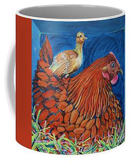 Broody Beverly And Peachick Coffee Mug