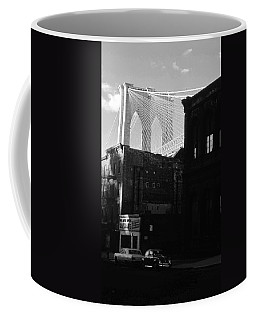 Brooklyn Bridge 1970 Coffee Mug by John Schneider