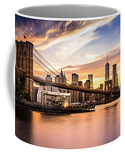 Brooklyn Bridge At Sunset  Coffee Mug by Mihai Andritoiu