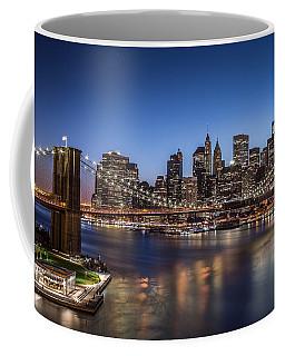 Brooklyn Bridge Coffee Mug by Mihai Andritoiu