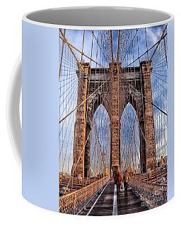 Coffee Mug featuring the photograph Brooklyn Bridge by Paul Fearn