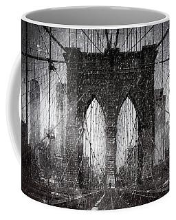 Brooklyn Bridge Snow Day Coffee Mug