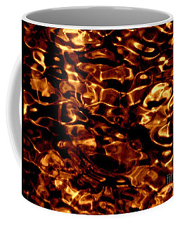 Brown Abstract Plants Coffee Mug