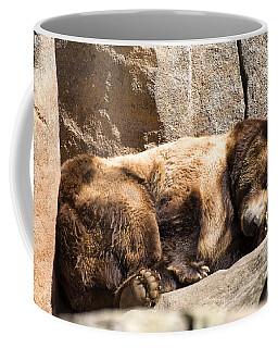 Brown Bear Asleep Again Coffee Mug by Chris Flees