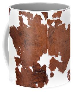 Coffee Mug featuring the photograph Brown Cowhide by Gunter Nezhoda