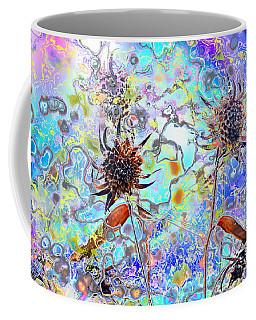 Brown Flower Abstract Coffee Mug