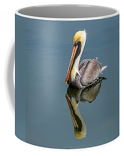 Brown Pelican Reflection Coffee Mug