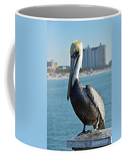 Coffee Mug featuring the photograph Brown Pelican by Robert Meanor