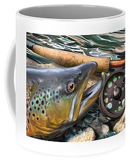 Brown Trout Sunset Coffee Mug
