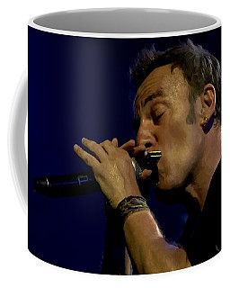 Bruce Springsteen Performing The River At Glastonbury In 2009 - 2 Coffee Mug