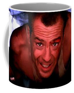 Bruce Willis In The Film Die Hard - John Mctiernan 1988 Coffee Mug