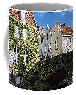 Bruges Gabled Homes Along Waterway Coffee Mug