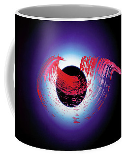 Brushstroke Over Eclipse -- Tribute To Pink Floyd Dark Side Of The Moon Coffee Mug by Asha Carolyn Young and Daniel Furon