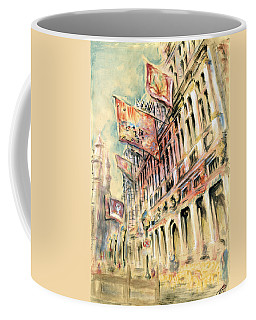 Brussels Grand Place - Watercolor Coffee Mug