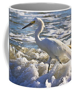 Bubbles Around Snowy Egret Coffee Mug