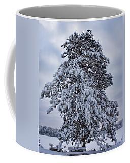 Buck Lake Flocked Pine Coffee Mug