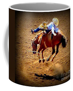 Coffee Mug featuring the photograph Bucking Broncos Rodeo Time by Susan Garren