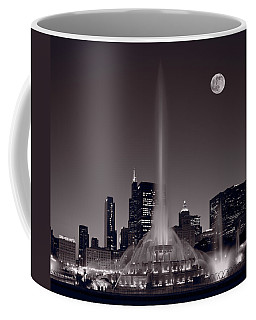 Buckingham Fountain Nightlight Chicago Bw Coffee Mug