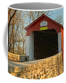 Bucks County Van Sant Covered Bridge Coffee Mug
