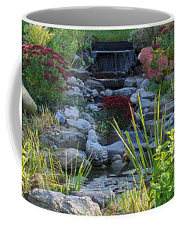 Coffee Mug featuring the photograph Buddha Water Pond by Brenda Brown