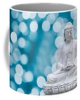 Buddha Enlightenment Blue Coffee Mug