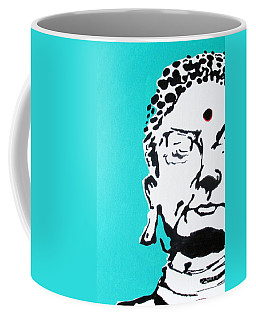 Coffee Mug featuring the painting Buddha by Nicole Gaitan