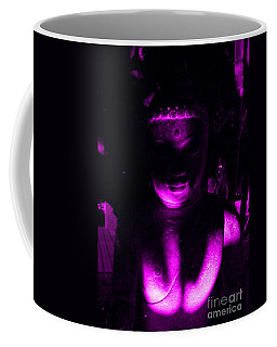 Buddha Reflecting Purple Coffee Mug by Linda Prewer