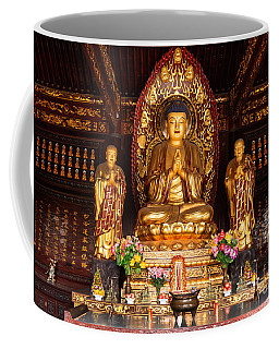 Buddha Statue And Relics At Giant Wild Goose Pagoda In Xi'an Coffee Mug