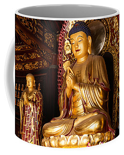 Buddha Statue At Big Wild Goose Pagoda In China Coffee Mug
