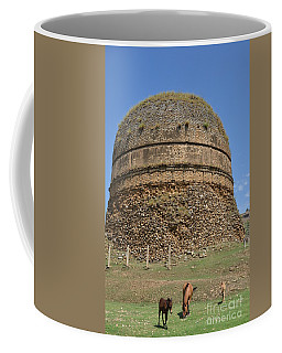 Buddhist Religious Stupa Horse And Mules Swat Valley Pakistan Coffee Mug