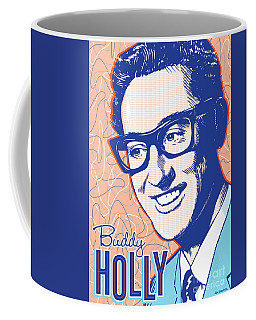 Buddy Holly Pop Art Coffee Mug by Jim Zahniser